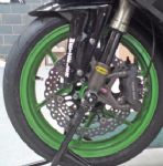 DAYTONA 675 LSL Axle protectors (black anodised) Clearance Price!